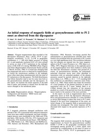 An Initial Response of Magnetic Fields a... by Saka, O.