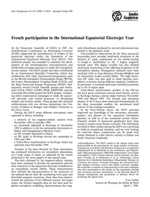 French Participation in the Internationa... by Cohen, Y.