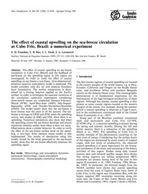 The Effect of Coastal Upwelling on the S... by Franchito, S. H.
