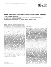Annual and Seasonal Variations in the Lo... by Su, Y. Z.