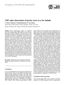 Vhf Radar Observations of Gravity Waves ... by Dutta, G.