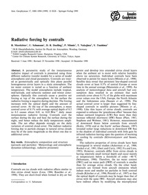 Radiative Forcing by Contrails : Volume ... by Meerkötter, R.