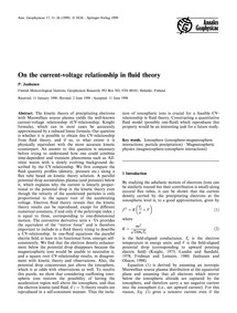 On the Current-voltage Relationship in F... by Janhunen, P.