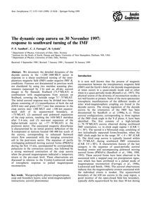 The Dynamic Cusp Aurora on 30 November 1... by Sandholt, P. E.
