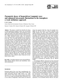 Parametric Decay of Beam-driven Langmuir... by Forme, F. R. E.