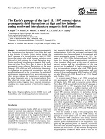 The Earth's Passage of the April 11, 199... by Lepidi, S.