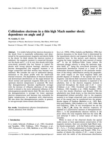 Collisionless Electrons in a Thin High M... by Gedalin, M.