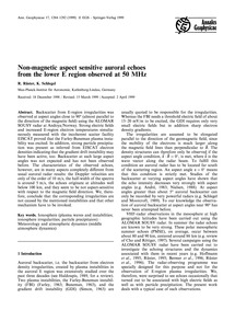 Non-magnetic Aspect Sensitive Auroral Ec... by Rüster, R.