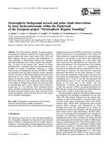 Stratospheric Background Aerosol and Pol... by Adriani, A.