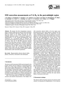 Edi Convection Measurements at 5-6 RE in... by Quinn, J. M.