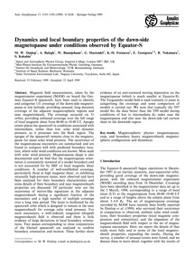 Dynamics and Local Boundary Properties o... by Dunlop, M. W.