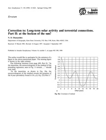 Correction to: Long-term Solar Activity ... by Diamantides, N. D.