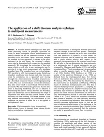 The Application of a Shift Theorem Analy... by Dieckmann, M. E.