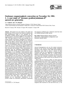 Stationary Magnetospheric Convection on ... by Galperin, Y. I.