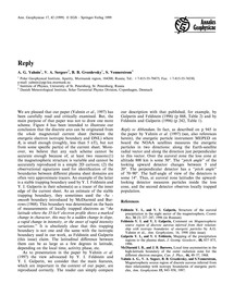 Reply : Volume 17, Issue 1 (30/11/-0001) by Yahnin, A. G.