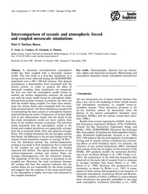 Intercomparison of Oceanic and Atmospher... by Josse, P.