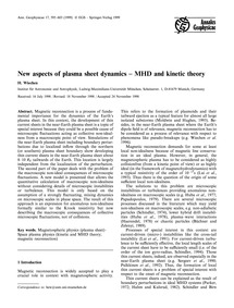 New Aspects of Plasma Sheet Dynamics - M... by Wiechen, H.