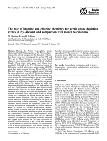 The Role of Bromine and Chlorine Chemist... by Martinez, M.