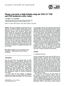 Plasma Convection at High Latitudes Usin... by Holt, J. M.
