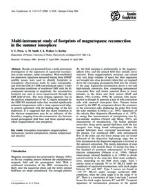 Multi-instrument Study of Footprints of ... by Pryse, S. E.