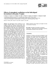 Effects of Atmospheric Oscillations on t... by Oyama, S.