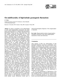 On Multifractality of High-latitude Geom... by Vörös, Z.