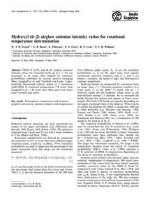 Hydroxyl (6−2) Airglow Emission Intensit... by French, W. J. R.
