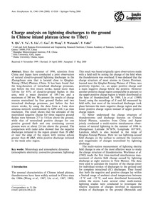 Charge Analysis on Lightning Discharges ... by Qie, X.