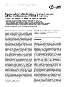 Experimental Study of the Formation of I... by Luízar, O.