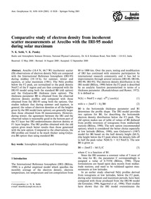 Comparative Study of Electron Density fr... by Sethi, N. K.