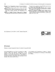 Erratum : Volume 18, Issue 12 (30/11/-00... by
