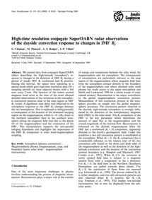 High-time Resolution Conjugate Superdarn... by Chisham, G.