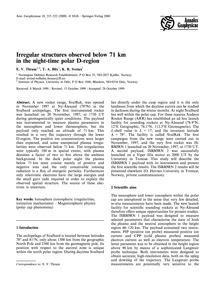 Irregular Structures Observed Below 71 K... by Thrane, E. V.