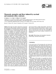Mesoscale Energetics and Flows Induced b... by Federico, S.