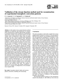 Validation of the Stream Function Method... by Israelevich, P.L.