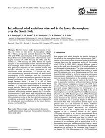 Intradiurnal Wind Variations Observed in... by Portnyagin, Y. I.