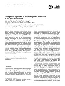 Ionospheric Signatures of Magnetospheric... by Berry, S. T.