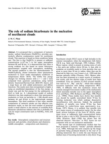 The Role of Sodium Bicarbonate in the Nu... by Plane, J. M. C.