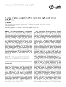 A Study of Phase-steepened Alfvén Waves ... by Alexander, P.