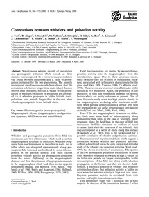 Connections Between Whistlers and Pulsat... by Verö, J.