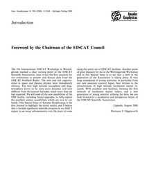 Introduction: Foreword by the Chairman o... by