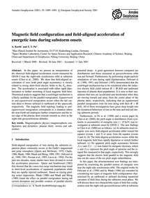 Magnetic Field Configuration and Field-a... by Korth, A.