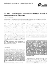 Use of the Acoustic Doppler Current Prof... by Ursella, L.