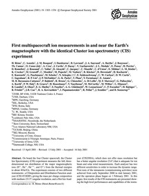 First Multispacecraft Ion Measurements i... by Rème, H.