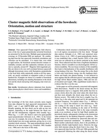 Cluster Magnetic Field Observations of t... by Horbury, T. S.