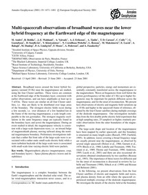 Multi-spacecraft Observations of Broadba... by André, M.