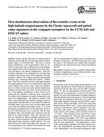 First Simultaneous Observations of Flux ... by Wild, J. A.