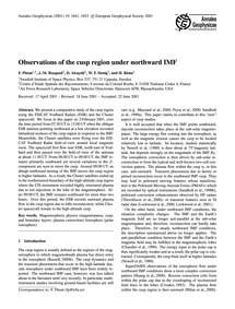 Observations of the Cusp Region Under No... by Pitout, F.