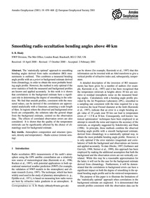 Smoothing Radio Occultation Bending Angl... by Healy, S. B.