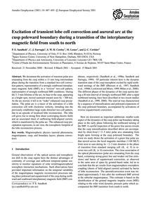 Excitation of Transient Lobe Cell Convec... by Sandholt, P. E.